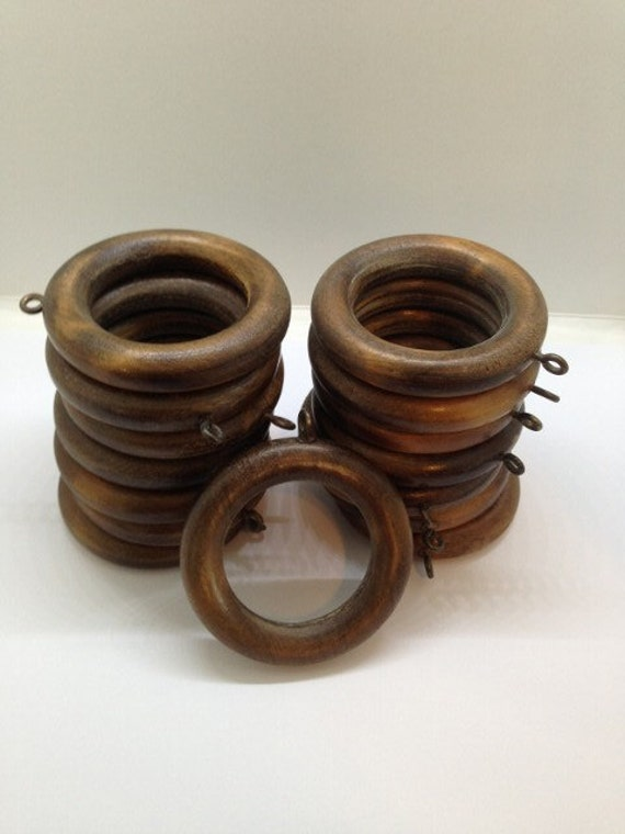 15 WOODEN CURTAIN RINGS - Wood Drapery Rings - Home Decor or Crafting