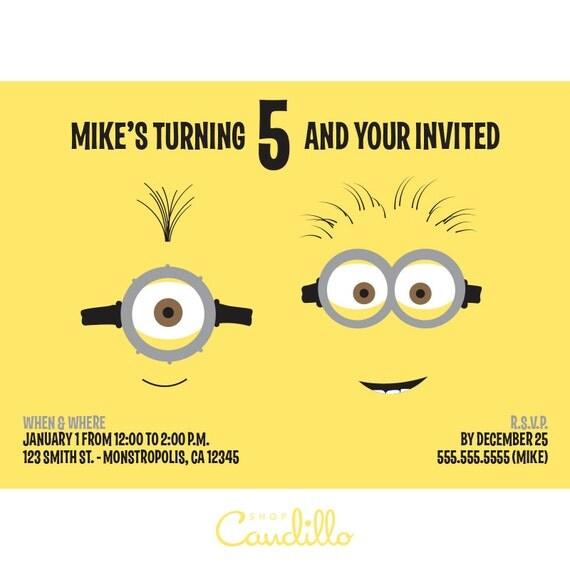 Minions Birthday Invitation is adorable invitation ideas