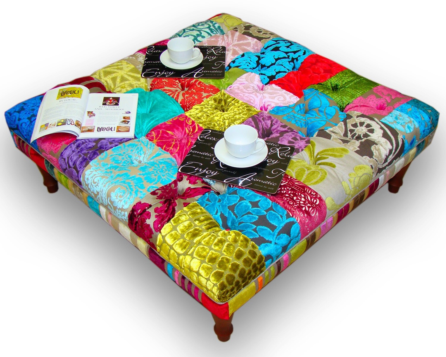 Large patchwork footstoolcoffee table in Designers Guild : ilfullxfull450351750qv77 from www.etsy.com size 1500 x 1200 jpeg 467kB