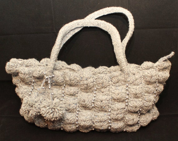 HAND MADE crochet purse bag with tassel Winter bag ladies woman any ...