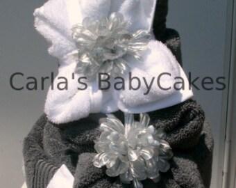 Bridal Shower Towel Cake | Wedding Towel Cake | Couples Wedding Gift | Bridal Shower Gift | Housewarming gift | Bath towel spa gift