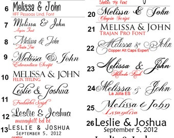 Modern Guest Book Alternative, Signature tree, Fonts, Swatch Colors, Instruction Sign, Love Birds