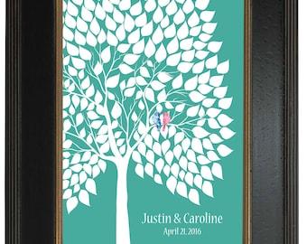 Personalized Print Art Print, 183 guest sign in - Custom Tree Art Print Modern Guest Book Alternative, Signature tree, 20x30 - 126
