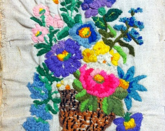 Vintage Floral Sewing/Embroidery Yarn Folk Art