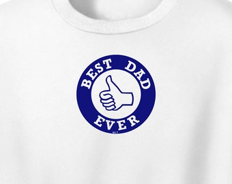 Mens Best Dad TShirt  White T Shirt  Mens Clothing Gift For Him, Best Dad Ever