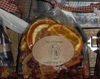 Dried Oranges, Hips & Stix Potpourri