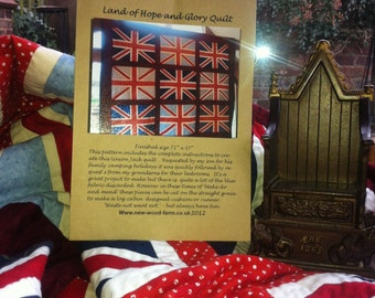 Union Jack Patchwork quilt pattern