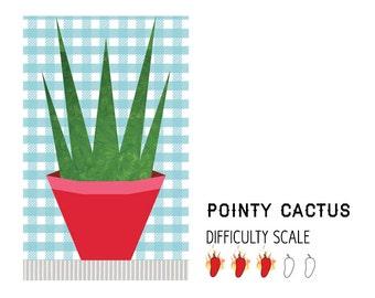 Aloe Vera paper pieced quilt pattern in PDF