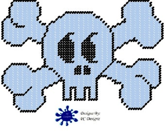 Skull Plastic Canvas Pattern