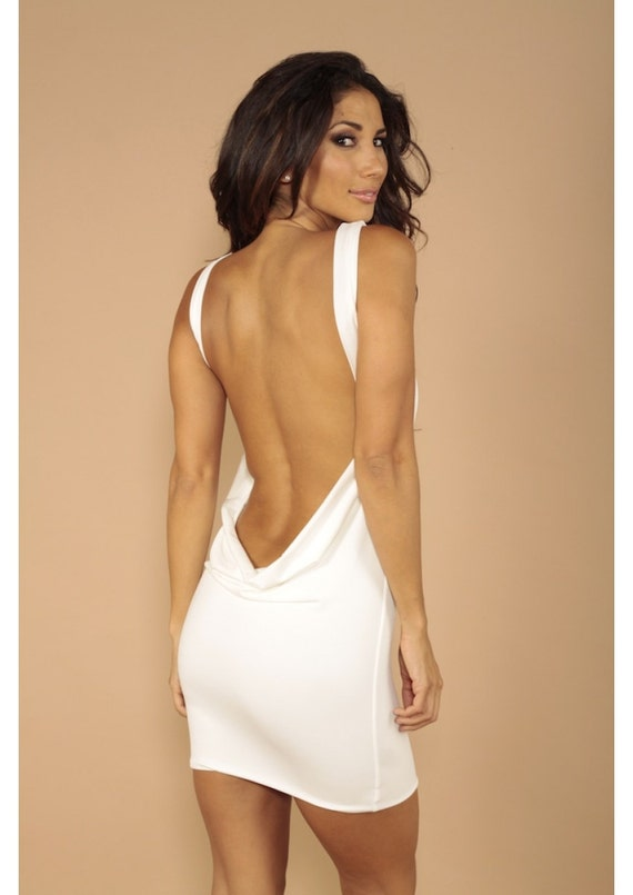 Mini Chiffon Party Slip Dress - Strap Detail Open Back
