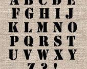 "Classic 3"" Alphabet Stencil Set"