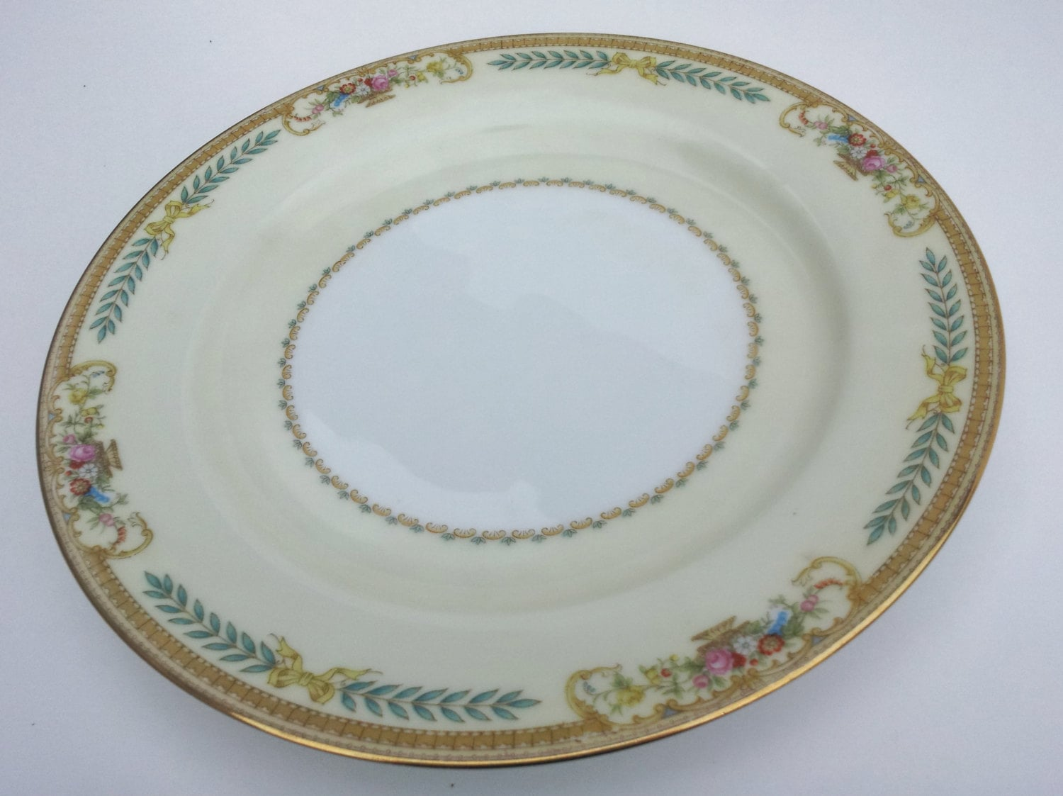 Vintage Noritake China Plate Pattern 3812 Tiara Luncheon White