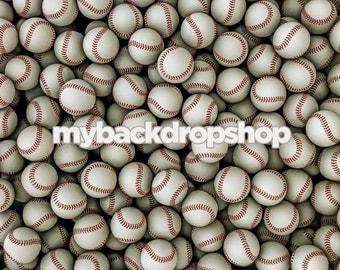 2ft x 2ft  Baseball Theme Photography Backdrop or Floor Drop - Sports Photography Photoshoots -  Vinyl or Poly Baseball Prop - Item 1045
