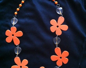Flower power hippie necklace