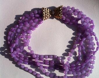 Vintage multi strand bead necklace