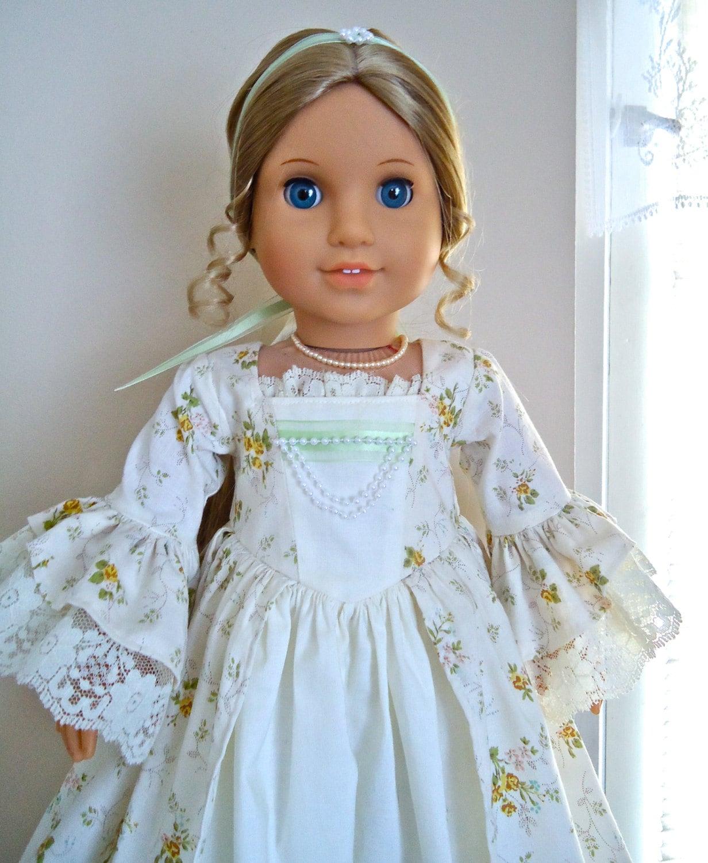 american girl felicity summer pearls dress and. Black Bedroom Furniture Sets. Home Design Ideas