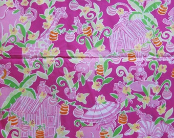 New Lilly Pulitzer Fabric Slaterock House 18 x 18 inches