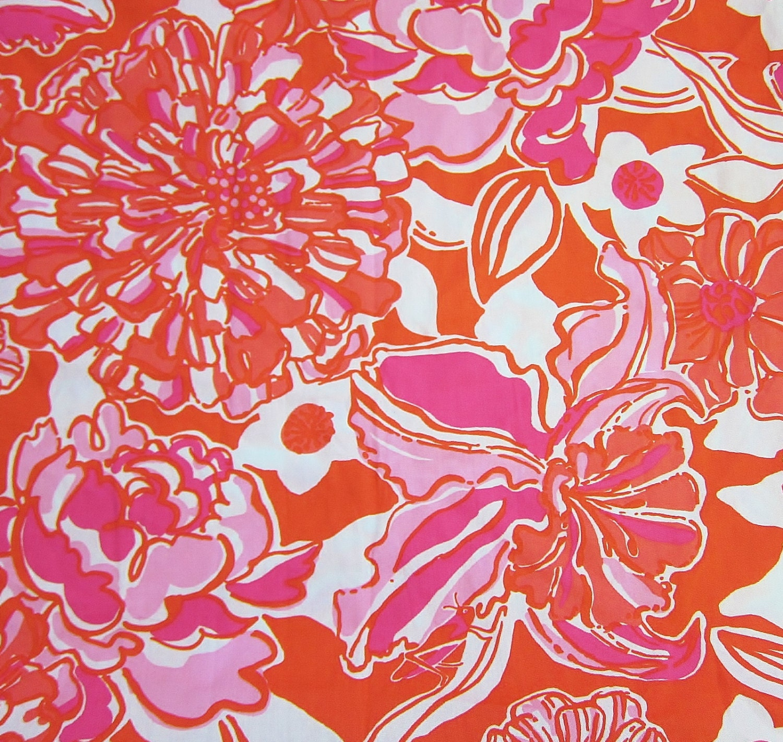 Lilly Pulitzer Fabric 18 X 18 Lilly Pulitzer Fabric Tango Orange Tango