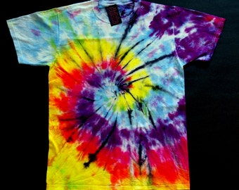 Aqua  Spiral  Tie  Dye  Shirt
