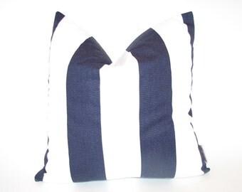 Navy Blue & White Throw Pillow Cover 18x18 inch hidden zipper Decorative Throw Accent Pillows