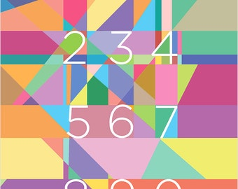 Lines and Numbers art print