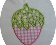 Instant download strawberry embroidery design  applique