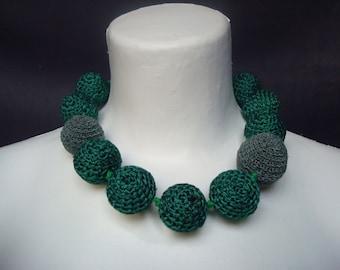 Stylish Necklace, Green Jewelry, Festal, Women, Teen Girls