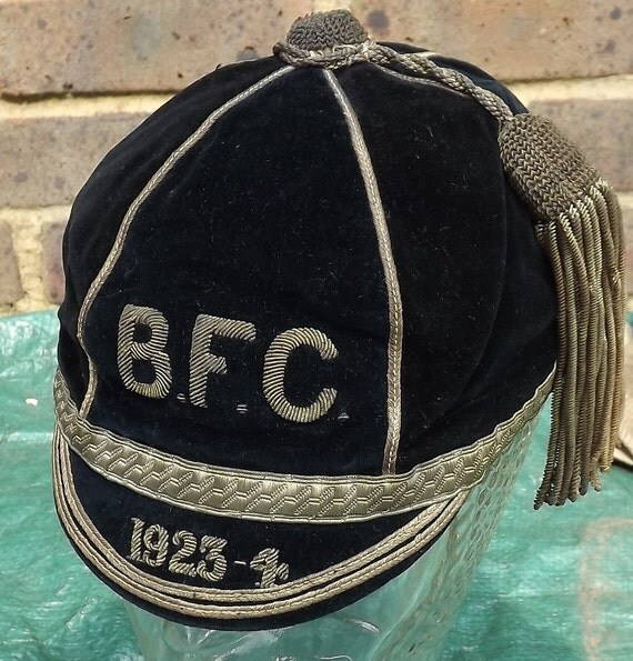 Bath Rugby Football Club Black Velvet Cap 1923/24