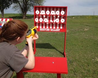 Nerf Shooting Gallery Carnival Game for Trade Show, Rental, Birthday, Church, VBS or School Party