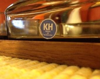 Danish Modern KH-Holmegaard Teak and Glass Relish Tray