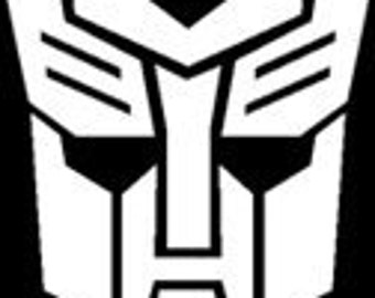 "Autobot Transformer Symbol 5"" Vinyl Decal Widow Sticker for Car, Truck, Motorcycle, Laptop, Ipad, Window, Wall, ETC"