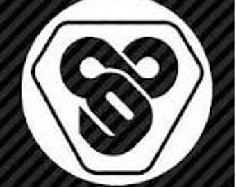 "TRON Flynn Lives 89 Circle 5"" Vinyl Decal Widow Sticker for Car, Truck, Motorcycle, Laptop, Ipad, Window, Wall, ETC"