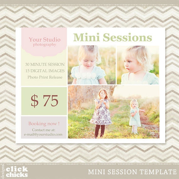 Items similar to mini session photography marketing template 001 c011 instant download on etsy for Free mini session templates
