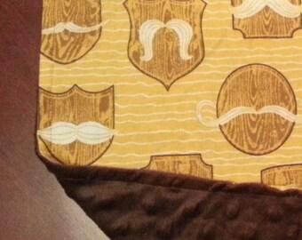 SALE PRICE  3 Unique Moustache / Mustache Baby Burp Cloths