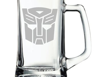 Transformers Autobots Etched Mug Personalized