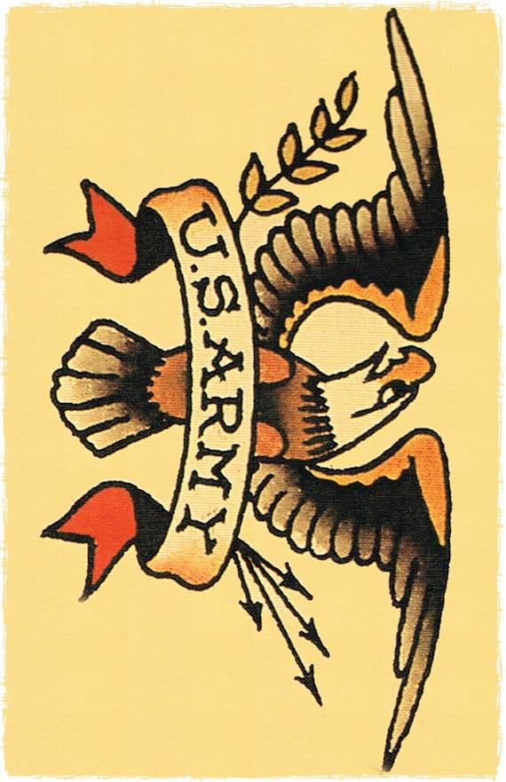 11 x 17 Big US ARMY insignia Eagle Sailor by
