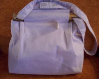 lt lavender cotton purse