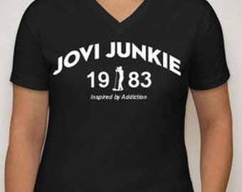 Bon Jovi Ladies 1983 V-Neck T-Shirt