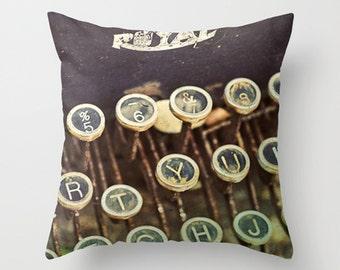Black Typewriter Pillow Cover decorative accent pillow toss pillow throw pillow