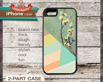 iPhone 5 Case Pastel Geometric Design No. 2 with Green, Yellow, Orange - Design Cover 157