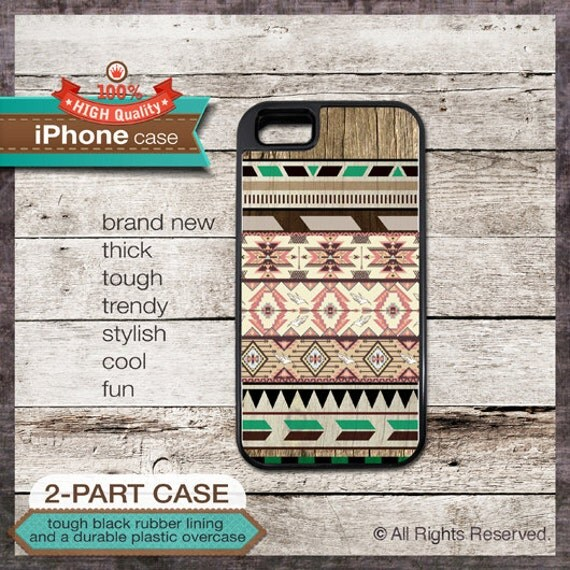 iPhone 4 or iPhone 5 or Samsung Galaxy Case Geo Tribal Pattern - Design Cover 40