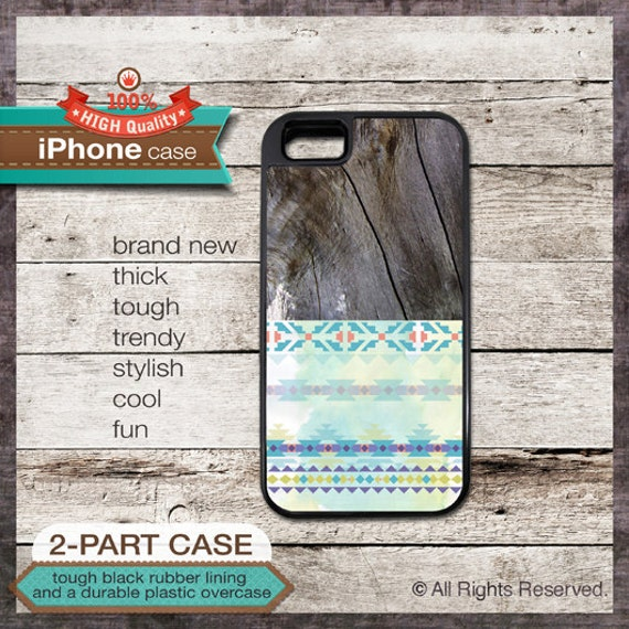 iPhone 6, 6+, 5 5S, 5C, 4 4S, Samsung Galaxy S3, S4 - Tribal Wood Pattern - Design Cover 57