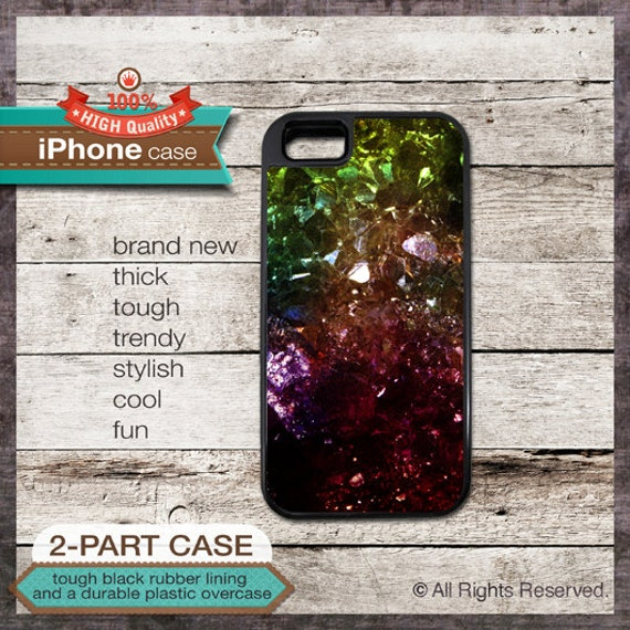 iPhone 6, 6+, 5 5S, 5C, 4 4S, Samsung Galaxy S3, S4 - Crystal Mineral Rock  - Design Cover 103