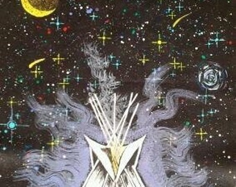 Galactic Tipi Meeting, Cardstock print of Original