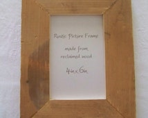 """Reclaimed Wood Picture Frame 4"""" x 6"""""""