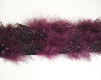 1 m Ribbon with Feathers Trim
