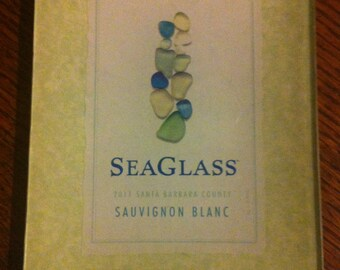 "Decoupage Glass Tray ""Sea Glass"""
