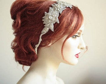 Wedding hair piece vintage inspired - Roza headpiece (Made to Order)
