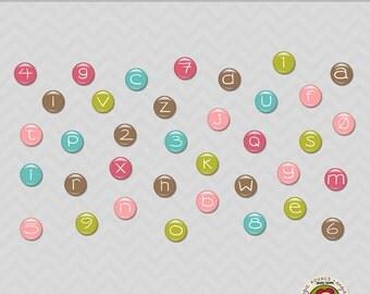 Candy Girl Digital Alphabet Set