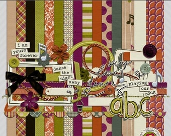 Playing Our Song Digital Scrapbooking Kit
